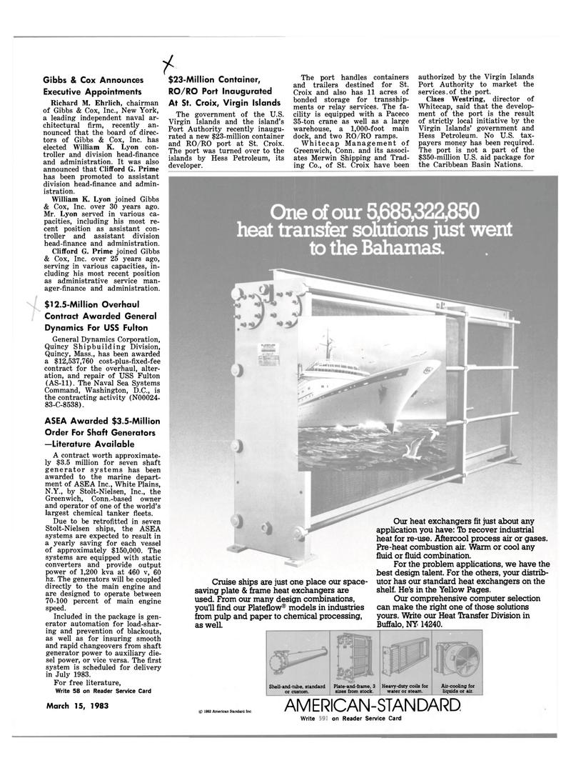 Maritime Reporter Magazine, page 3,  Mar 15, 1983