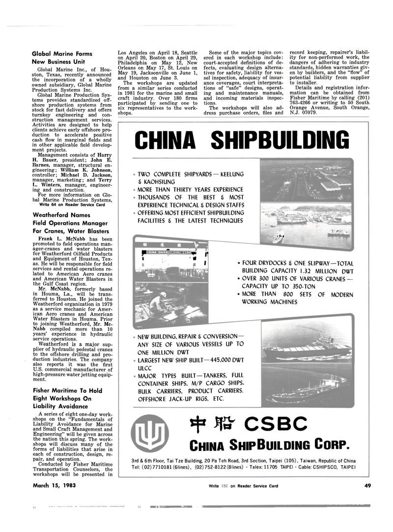 Maritime Reporter Magazine, page 51,  Mar 15, 1983 New Jersey