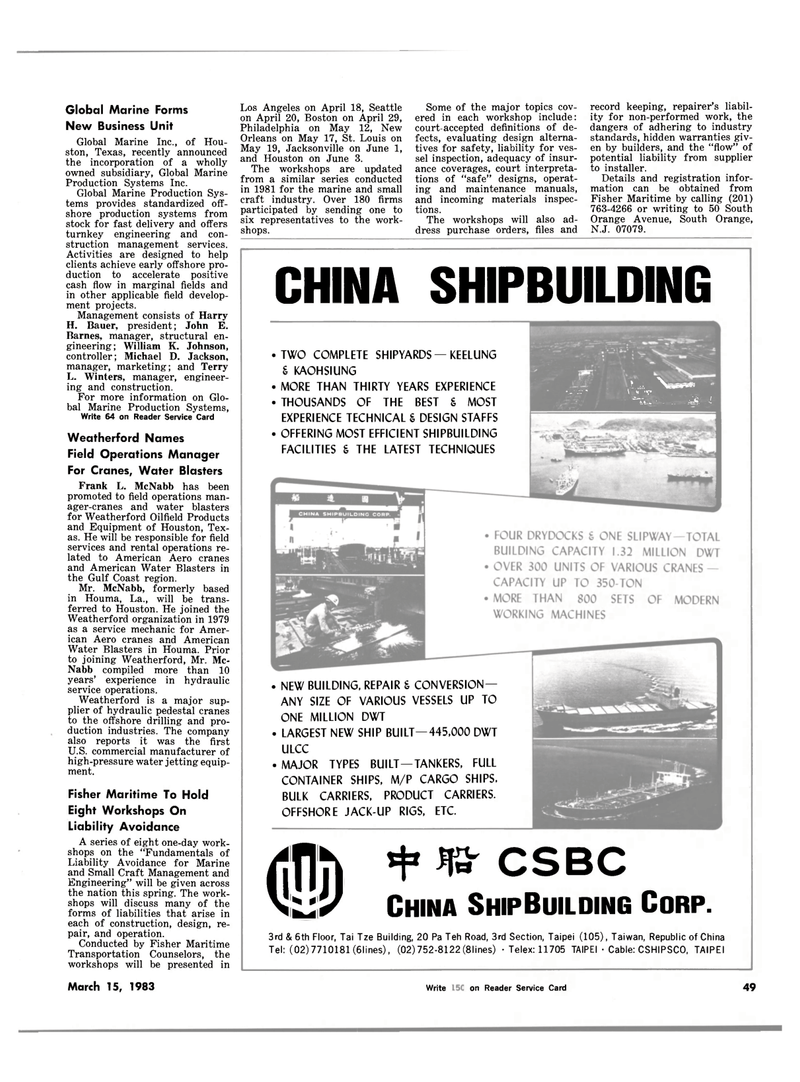 Maritime Reporter Magazine, page 53,  Mar 15, 1983 New Jersey