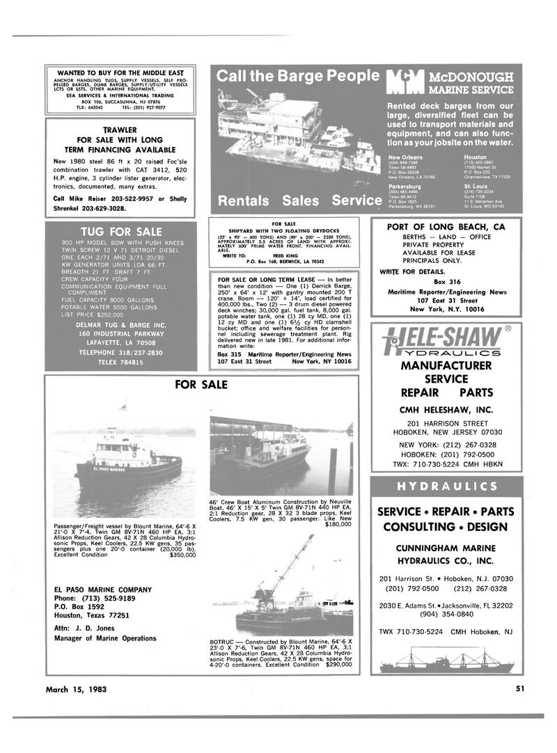 Maritime Reporter Magazine, page 55,  Mar 15, 1983 Missouri