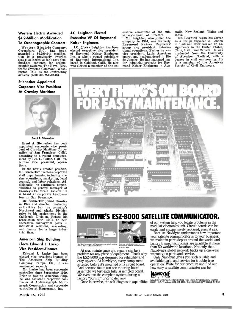 Maritime Reporter Magazine, page 7,  Mar 15, 1983 North Carolina