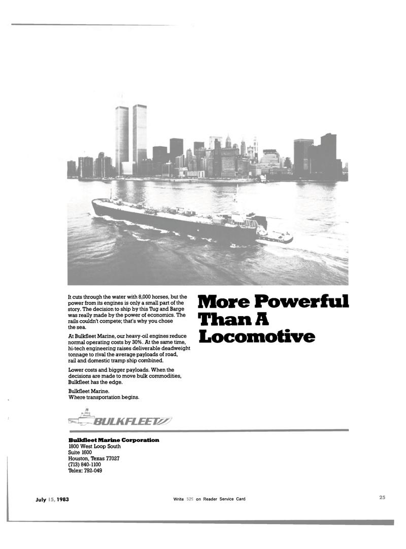 Maritime Reporter Magazine, page 19,  Jul 15, 1983
