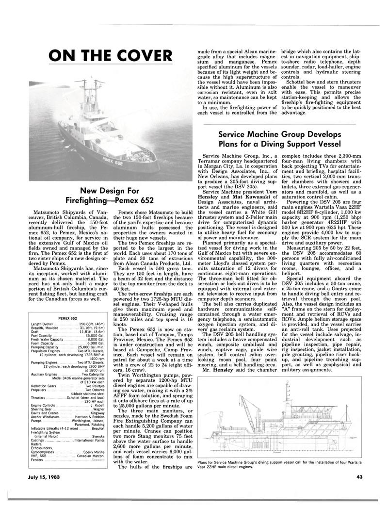 Maritime Reporter Magazine, page 39,  Jul 15, 1983