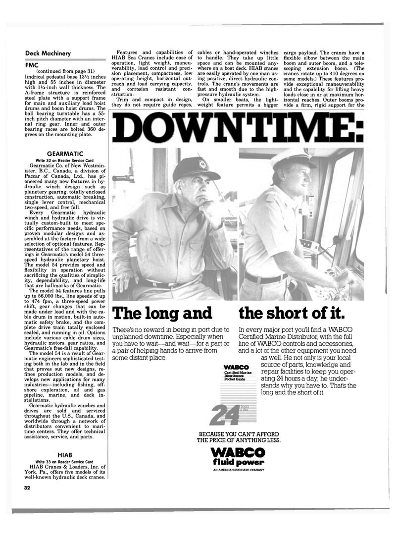 Maritime Reporter Magazine, page 30,  Aug 1983