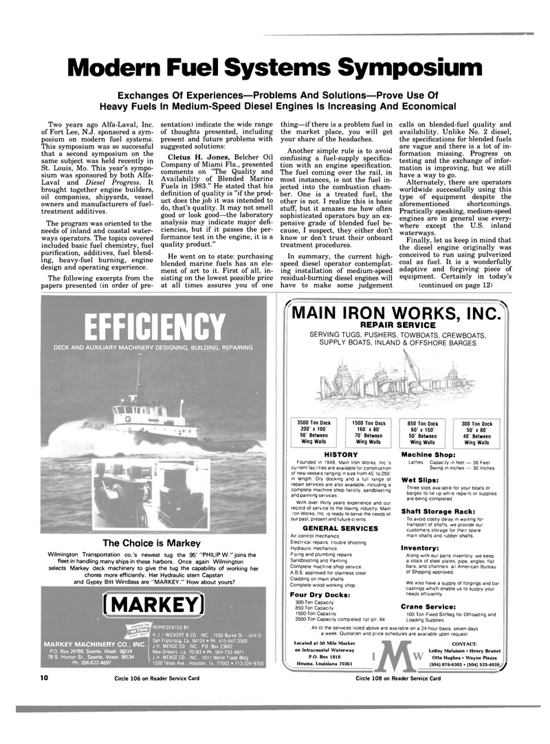 Maritime Reporter Magazine, page 8,  Jan 1984 Louisiana