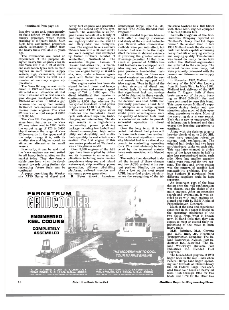 Maritime Reporter Magazine, page 12,  Jan 1984 Justin T. Rogers