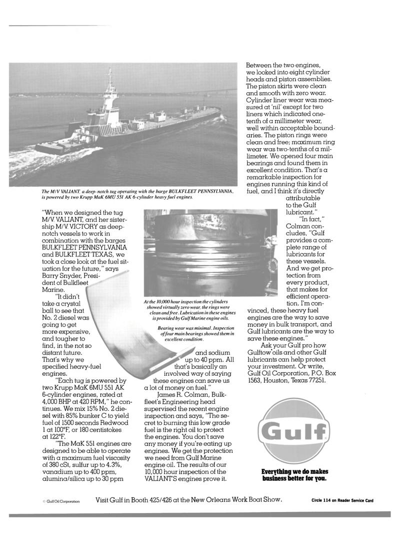 Maritime Reporter Magazine, page 15,  Jan 1984 oil