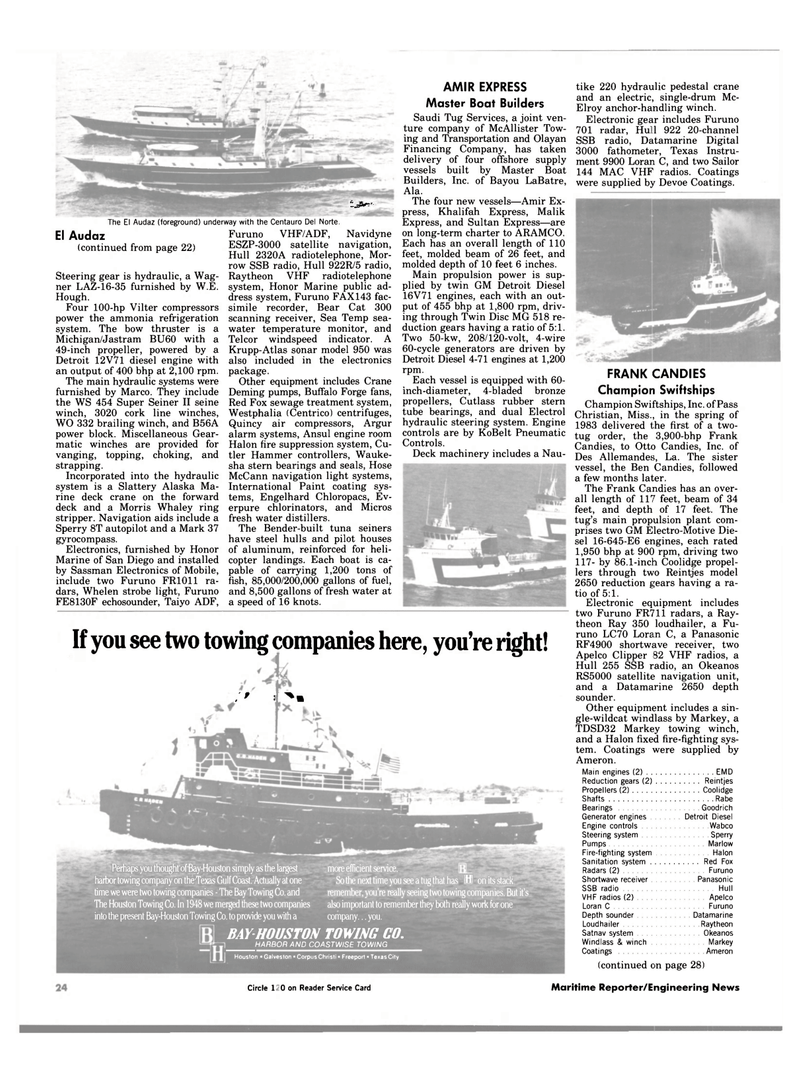 Maritime Reporter Magazine, page 24,  Jan 1984 Louisiana