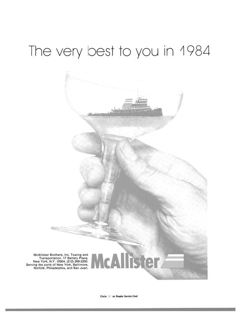 Maritime Reporter Magazine, page 1,  Jan 1984 New York
