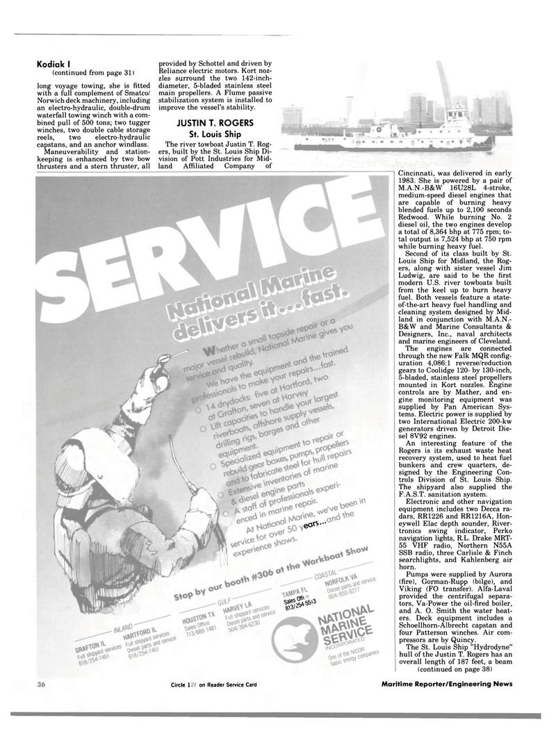 Maritime Reporter Magazine, page 36,  Jan 1984 deck machinery