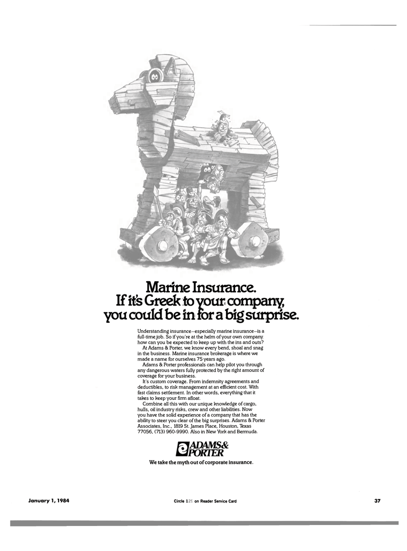 Maritime Reporter Magazine, page 37,  Jan 1984 Marine insurance brokerage