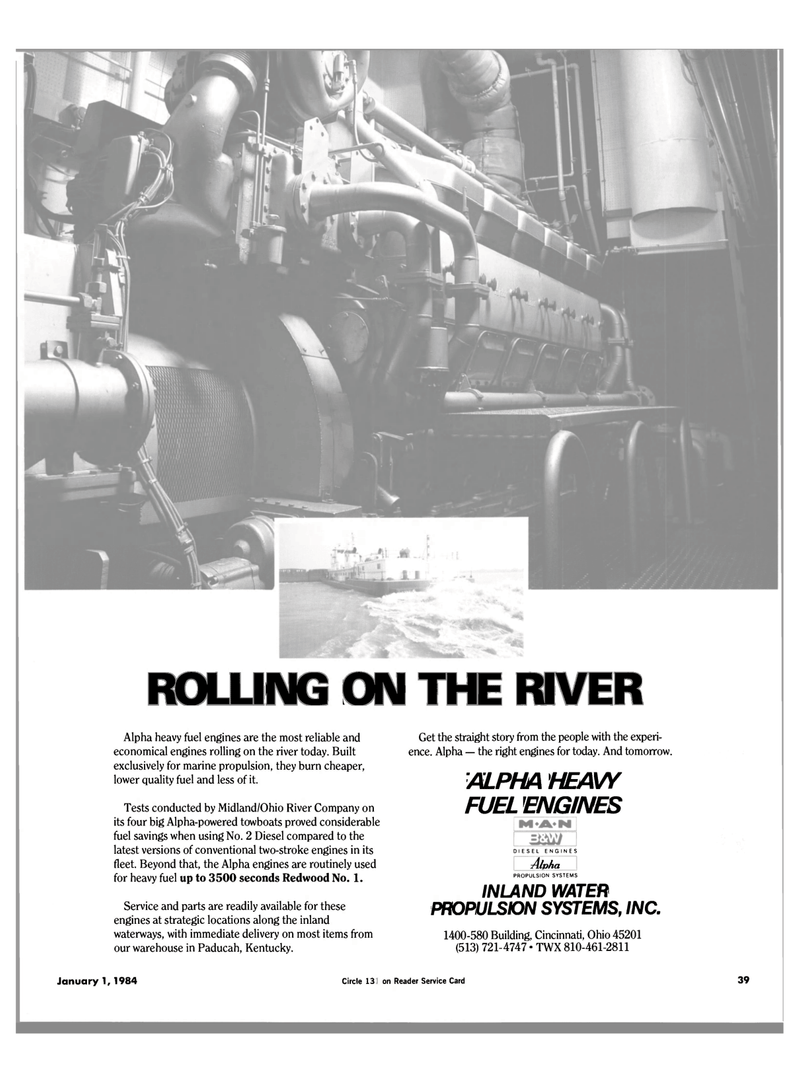 Maritime Reporter Magazine, page 39,  Jan 1984 WATER PROPULSION SYSTEMS INC.