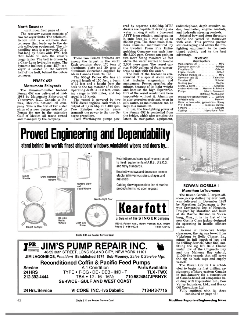 Maritime Reporter Magazine, page 42,  Jan 1984 Gulf of Mexico