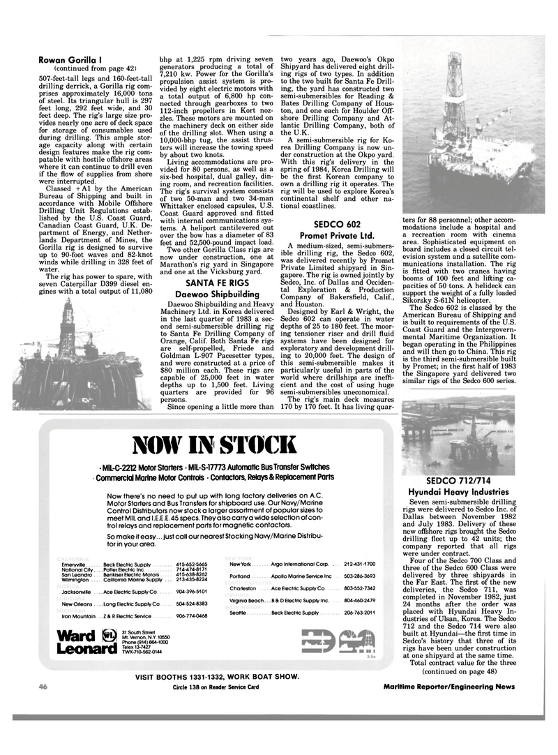 Maritime Reporter Magazine, page 46,  Jan 1984 Virginia