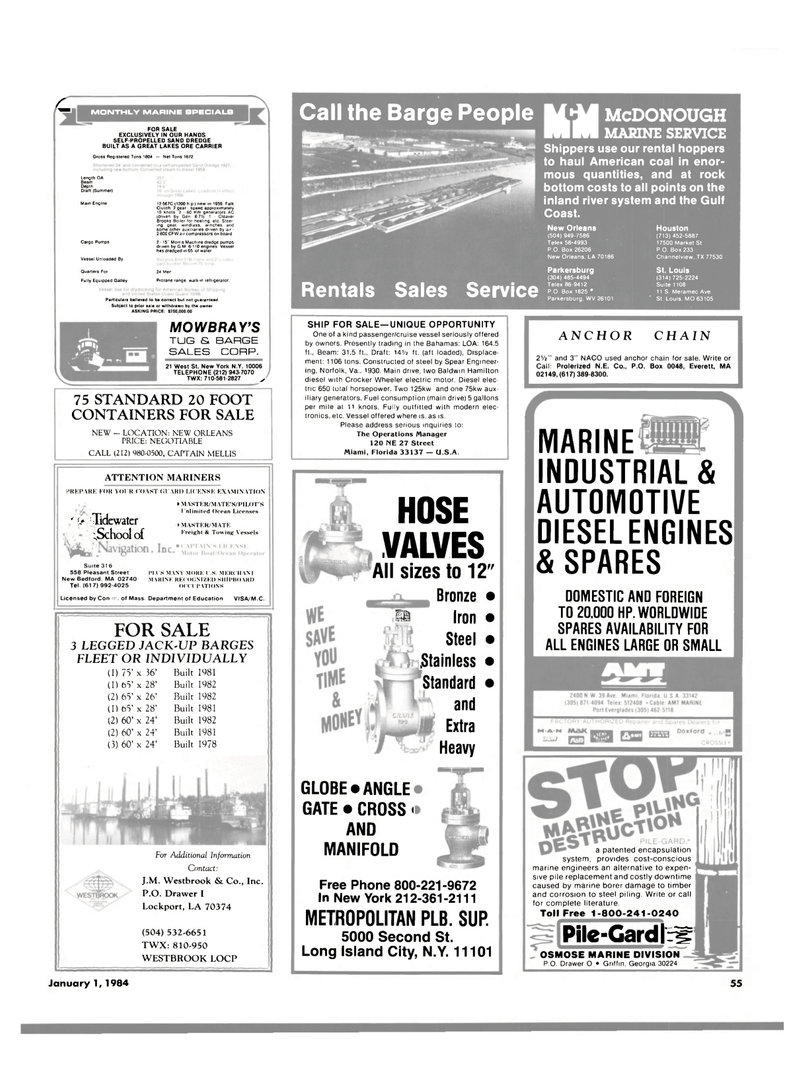 Maritime Reporter Magazine, page 55,  Jan 1984 Georgia