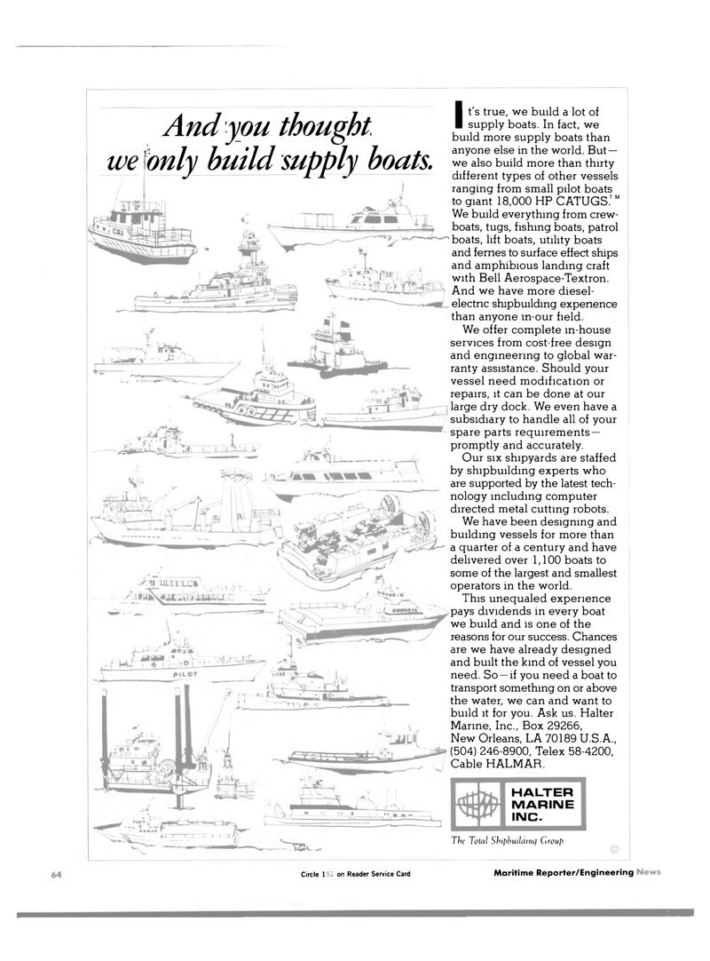 Maritime Reporter Magazine, page 62,  Jan 1984 metal cutting robots