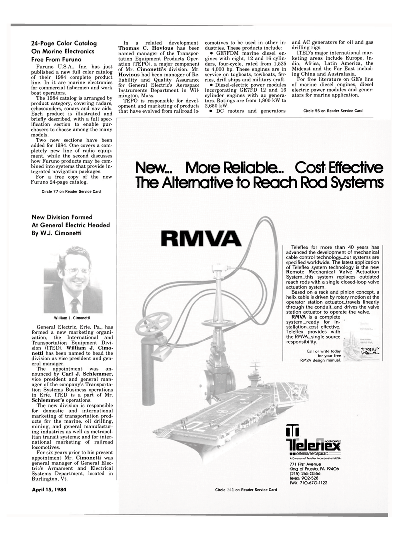 Maritime Reporter Magazine, page 7,  Apr 15, 1984 Australasia