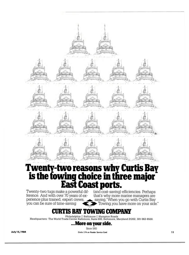 Maritime Reporter Magazine, page 9,  Jul 15, 1984 Hampton Roads Headquarters