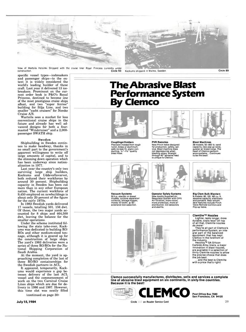 Maritime Reporter Magazine, page 27,  Jul 15, 1984