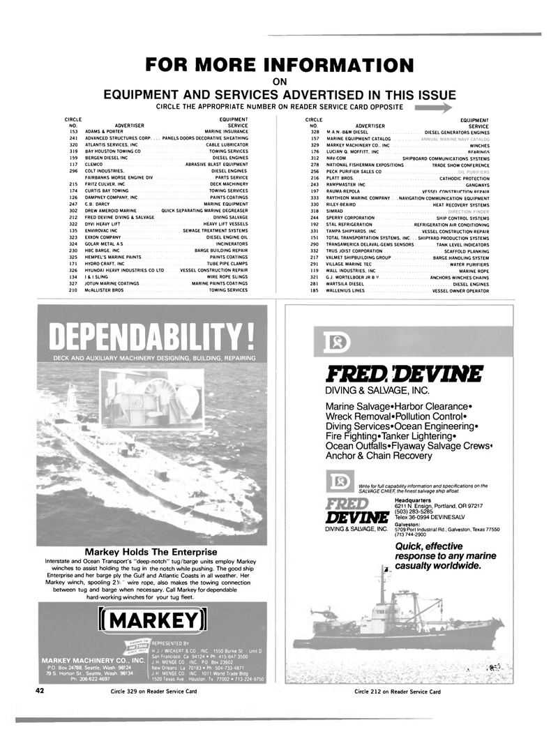 Maritime Reporter Magazine, page 40,  Jul 15, 1984 Atlantic Coasts