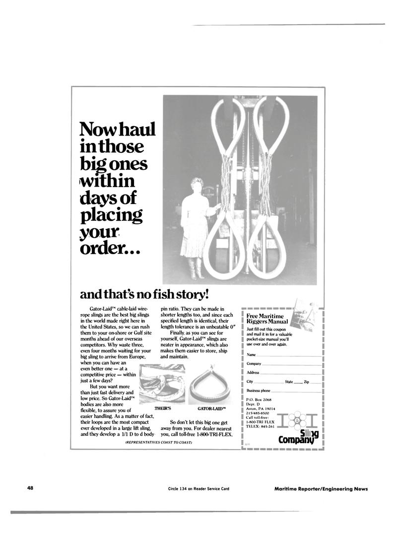 Maritime Reporter Magazine, page 44,  Jul 15, 1984 Europe