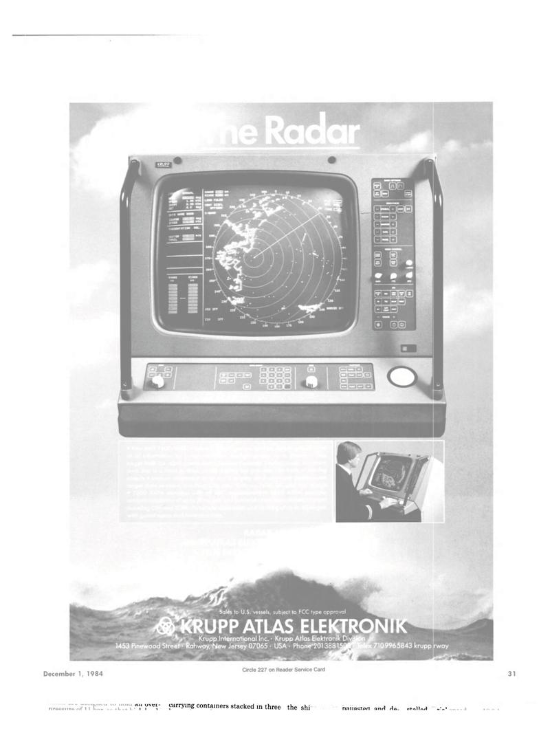 Maritime Reporter Magazine, page 29,  Dec 1984