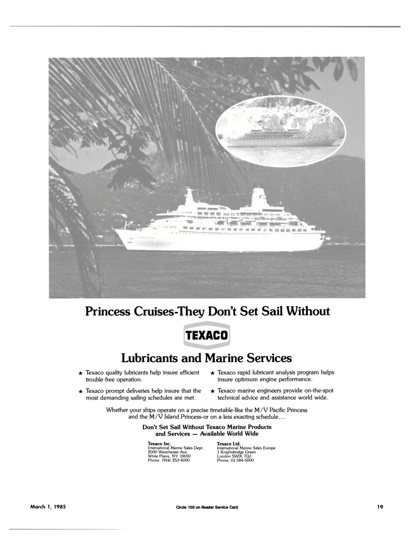 Maritime Reporter Magazine, page 17,  Mar 1985 Available World Wide Tcxaco Inc.