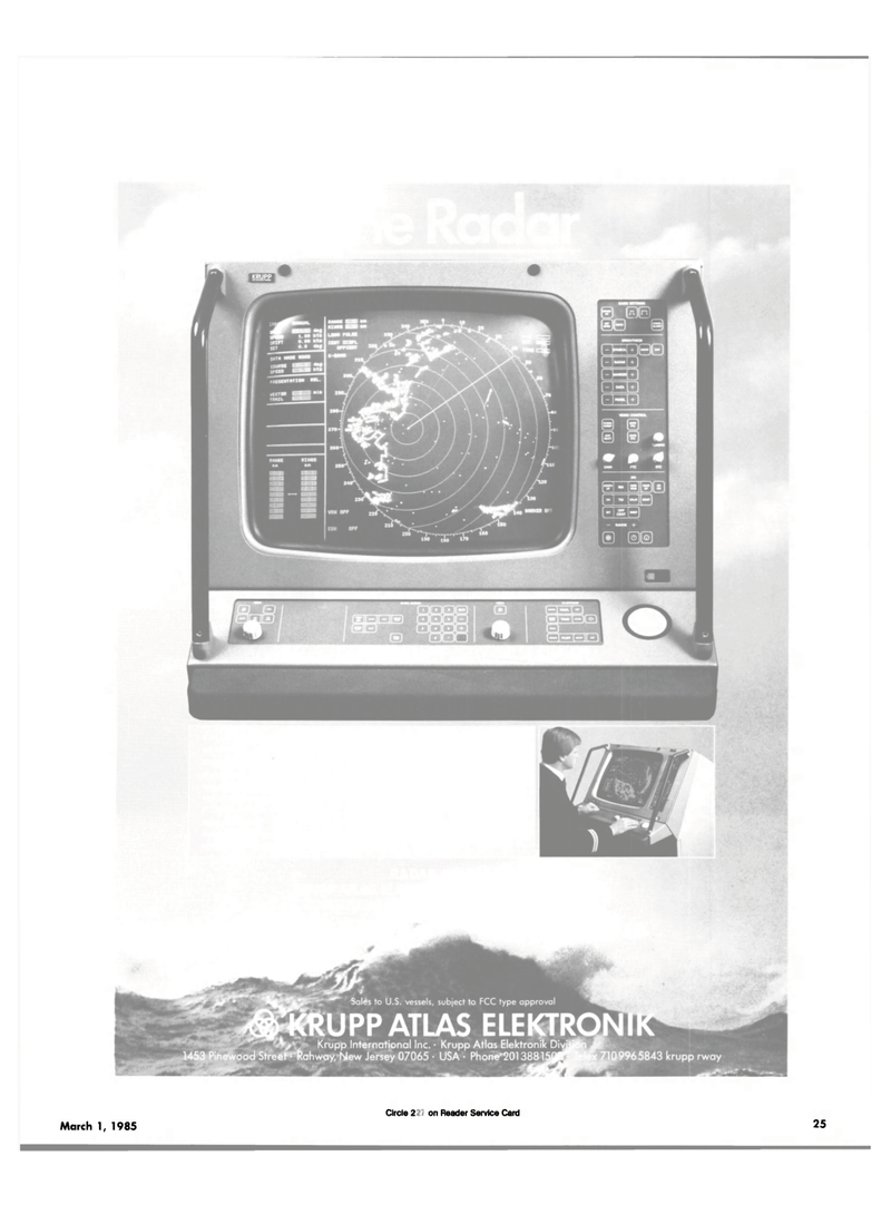 Maritime Reporter Magazine, page 23,  Mar 1985