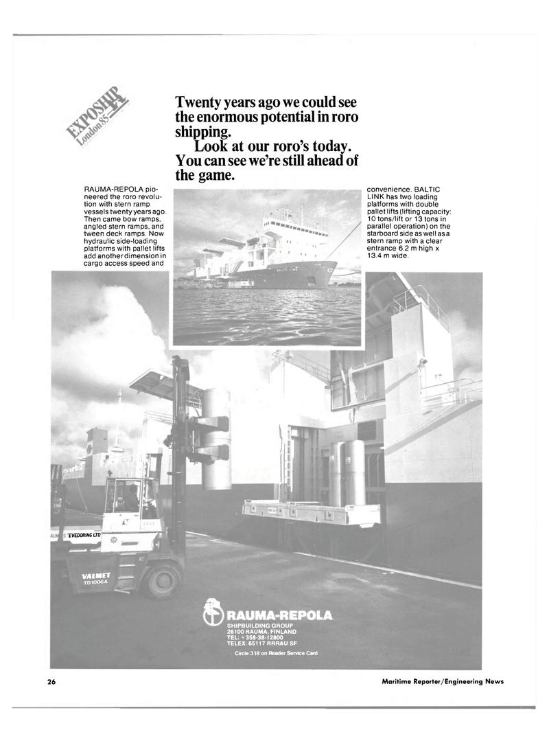 Maritime Reporter Magazine, page 24,  Mar 1985 TVEDOR/NG LTD