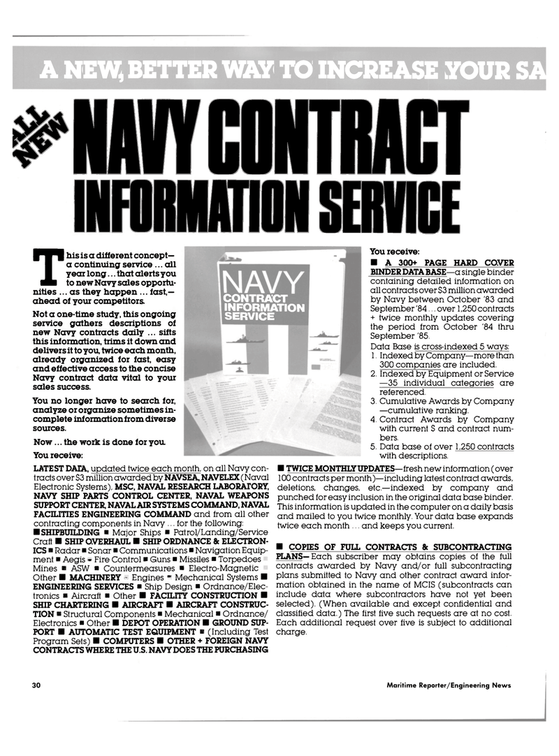 Maritime Reporter Magazine, page 28,  Mar 1985 Naval Air Systems Command