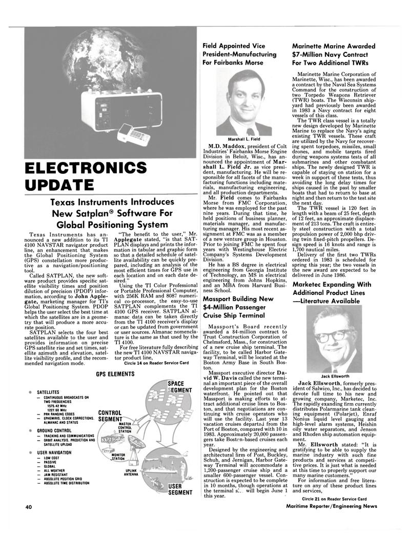 Maritime Reporter Magazine, page 38,  Mar 1985 Massachusetts