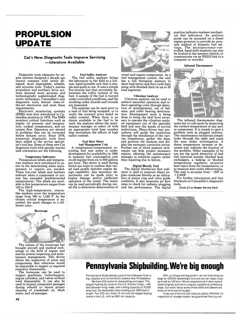 Maritime Reporter Magazine, page 40,  Mar 1985 Delaware River