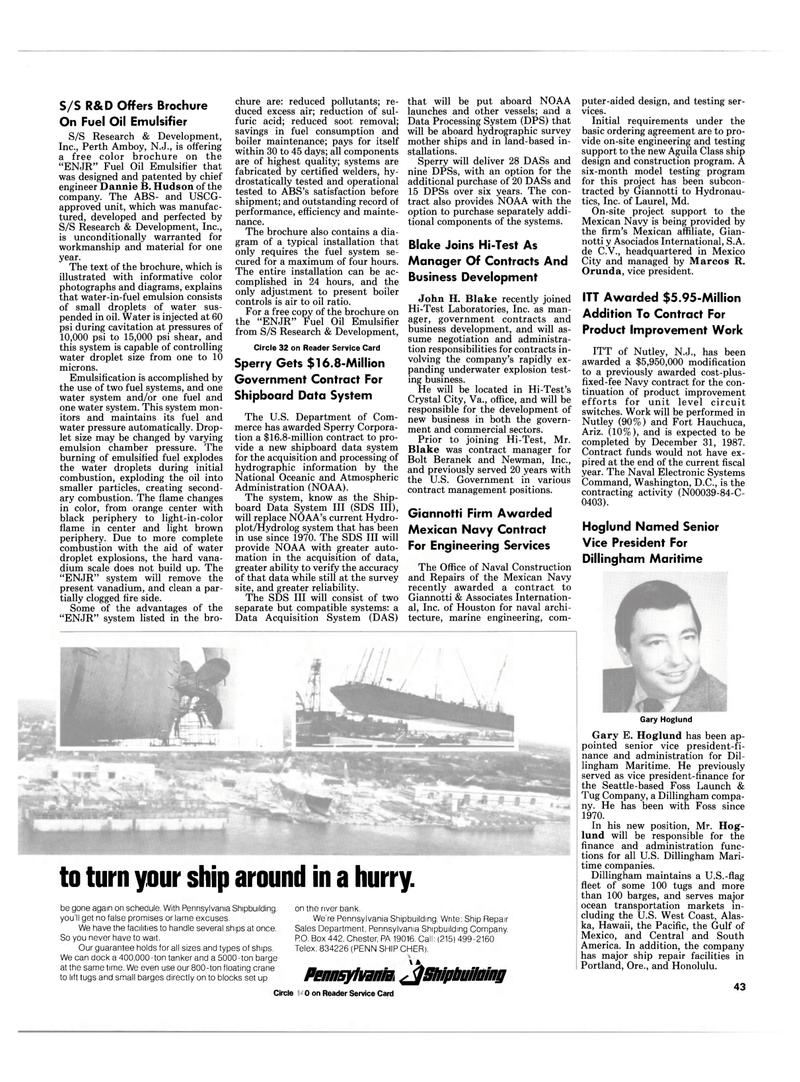 Maritime Reporter Magazine, page 41,  Mar 1985 Central America