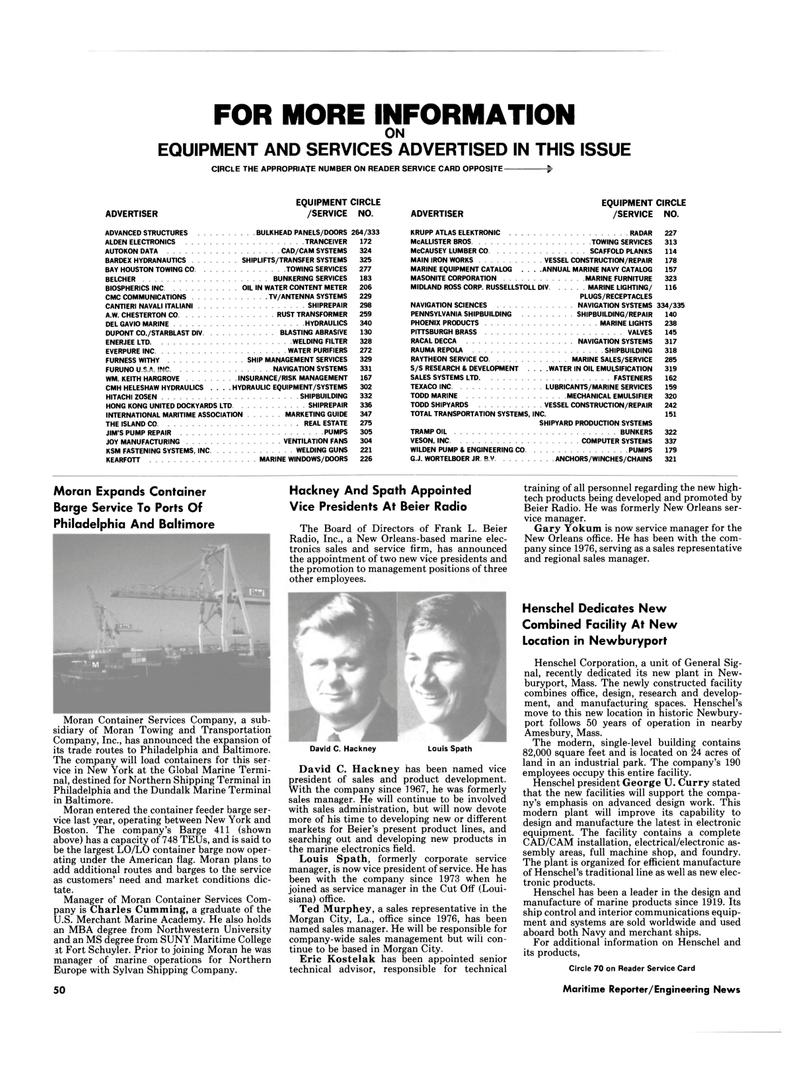Maritime Reporter Magazine, page 48,  Mar 1985 Pennsylvania