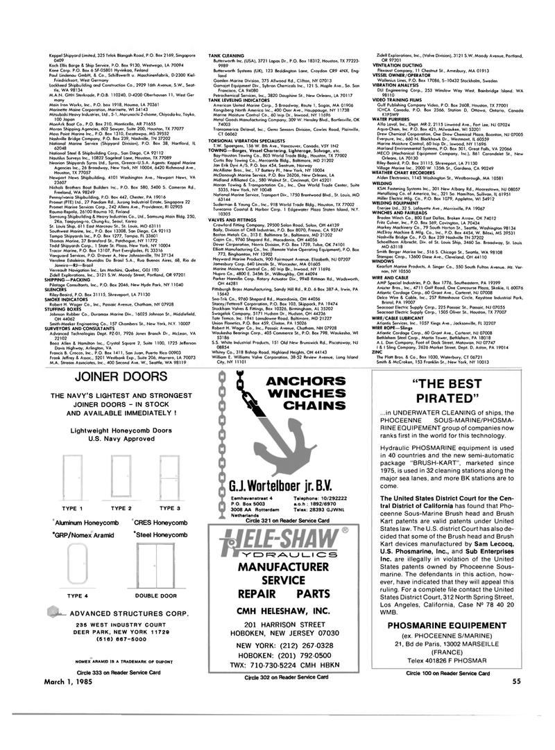 Maritime Reporter Magazine, page 51,  Mar 1985 Virginia