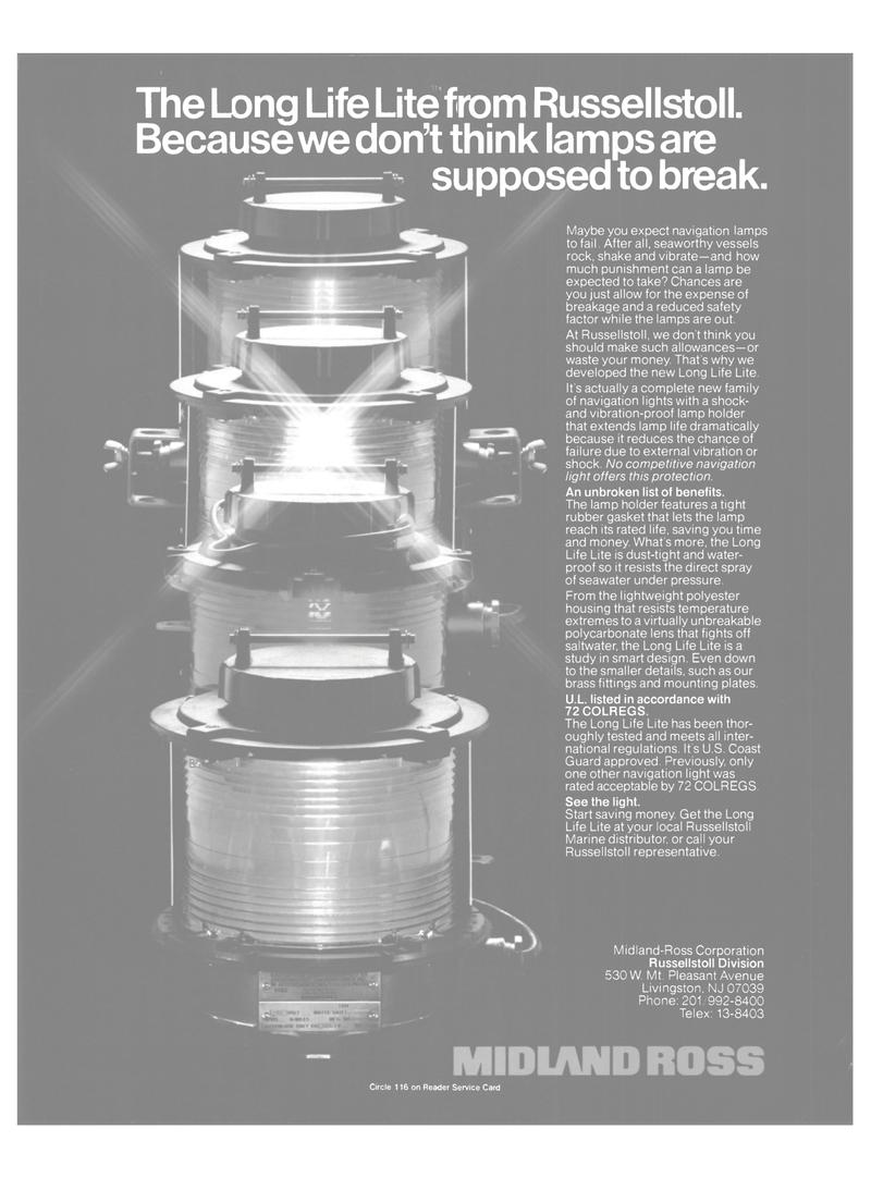 Maritime Reporter Magazine, page 7,  Mar 1985 Midland-Ross Corporation