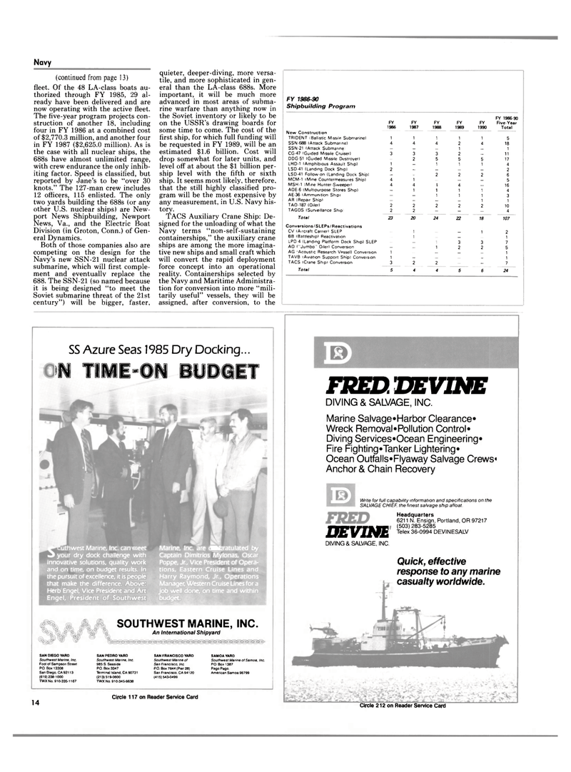 Maritime Reporter Magazine, page 12,  Mar 15, 1985 California