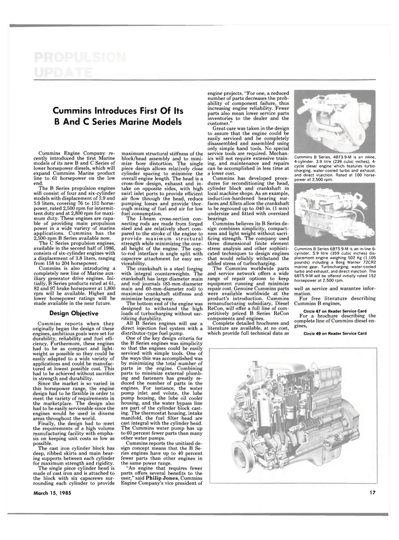 Maritime Reporter Magazine, page 15,  Mar 15, 1985 service tools
