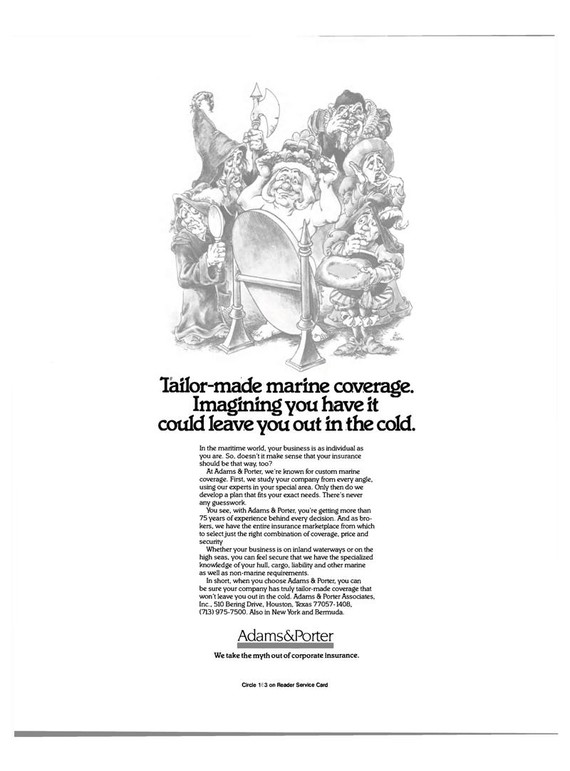 Maritime Reporter Magazine, page 17,  Mar 15, 1985 insurance marketplace