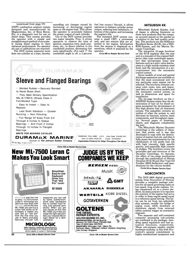 Maritime Reporter Magazine, page 28,  Mar 15, 1985 diagnostic tool