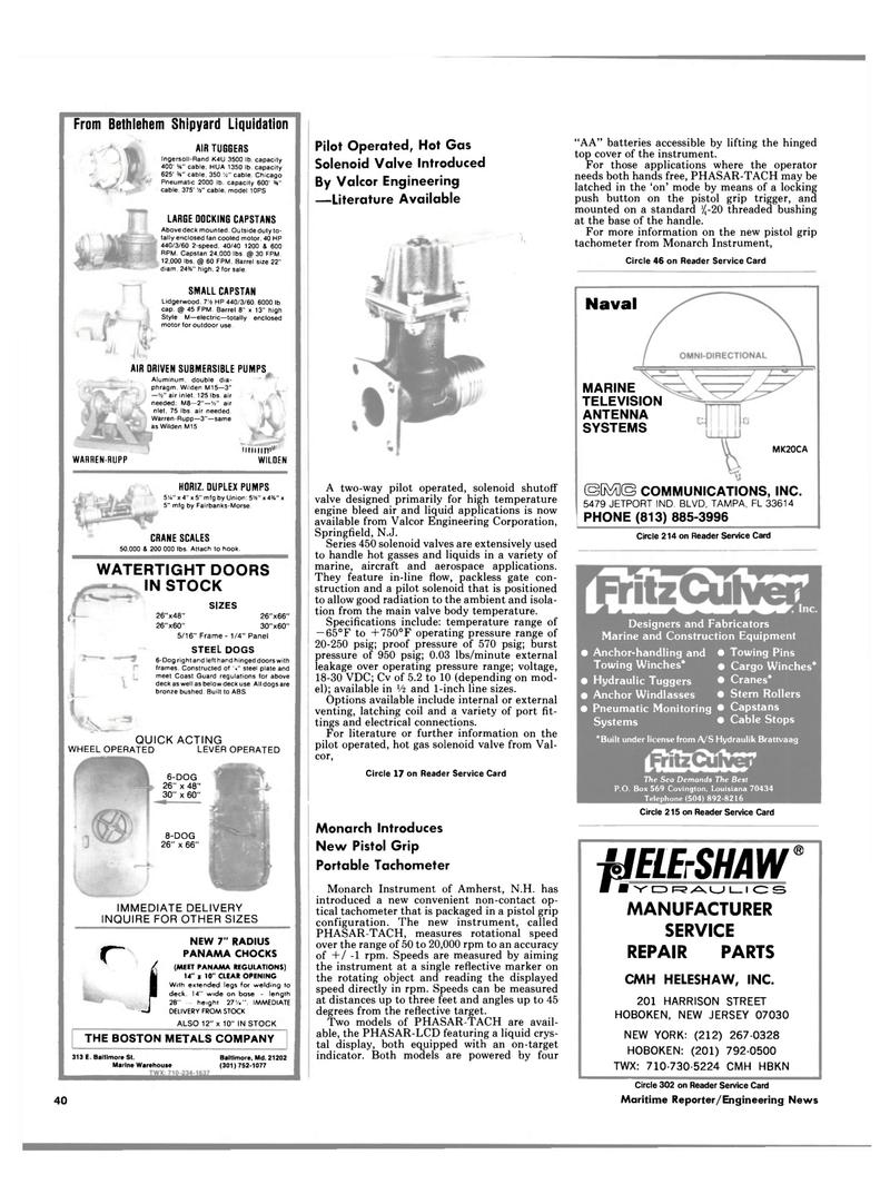 Maritime Reporter Magazine, page 38,  Mar 15, 1985 New Hampshire