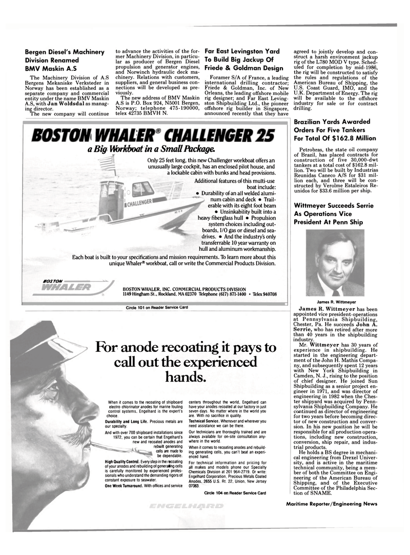 Maritime Reporter Magazine, page 4,  Mar 15, 1985 John A. Serrie