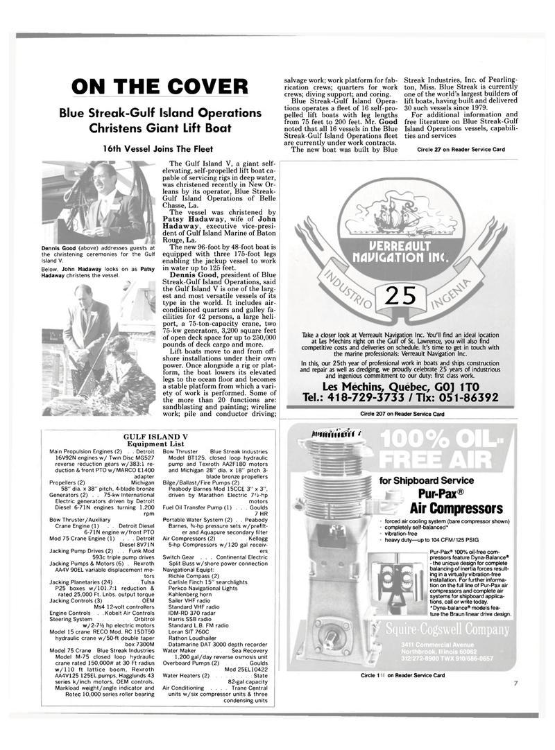 Maritime Reporter Magazine, page 5,  Mar 15, 1985 Quebec