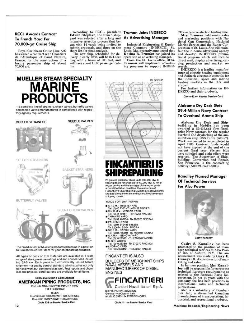 Maritime Reporter Magazine, page 10,  Sep 1985 Edwin Stephan