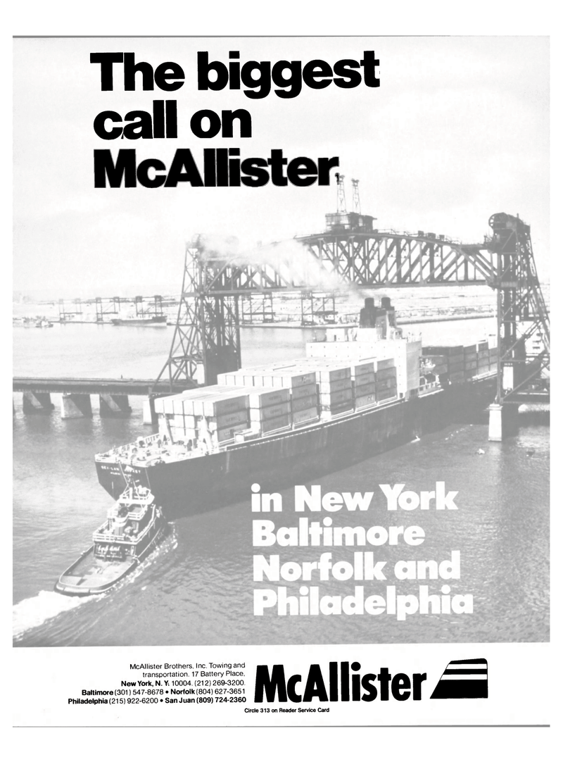 Maritime Reporter Magazine, page 1,  Sep 1985 McAllister Brothers Inc.