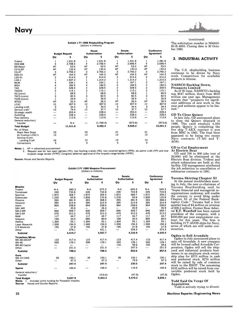 Maritime Reporter Magazine, page 32,  Sep 1985 E.T. Westfall