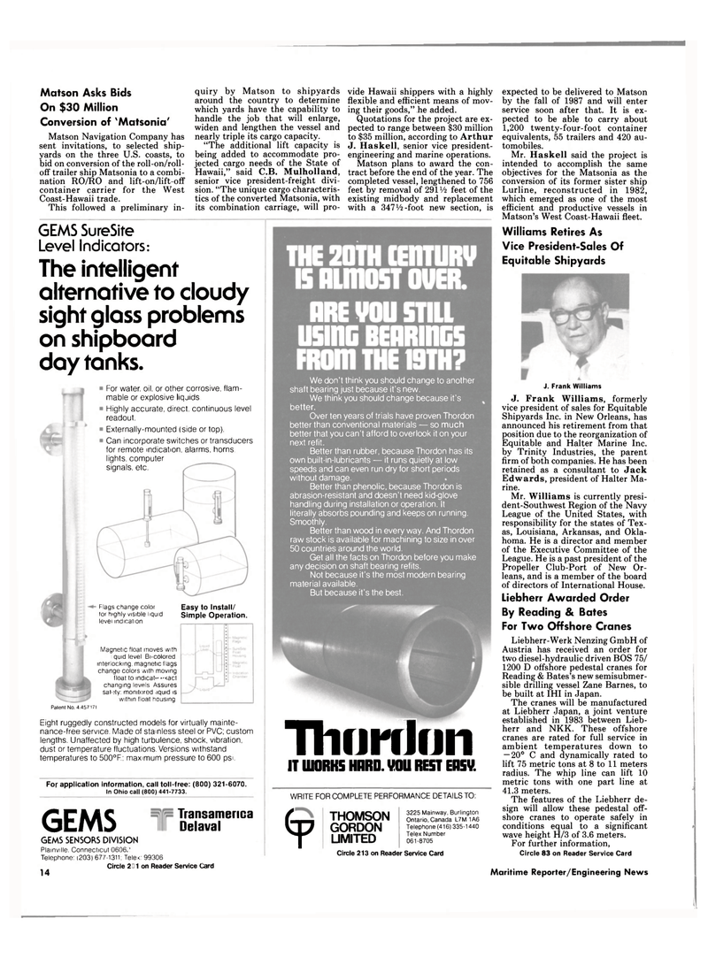 Maritime Reporter Magazine, page 12,  Sep 15, 1985 Connecticut