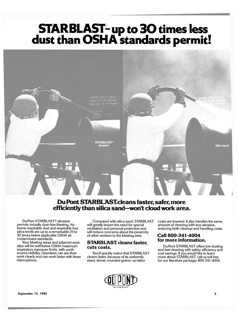 Maritime Reporter Magazine, page 3,  Sep 15, 1985 Du Pont