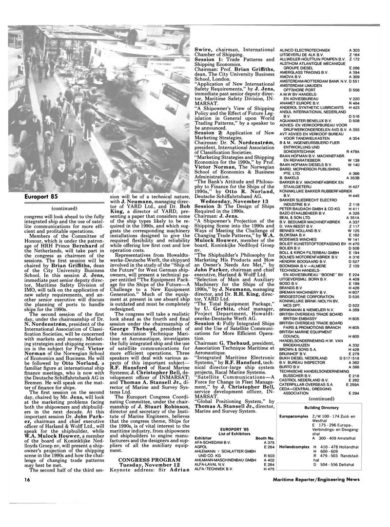 Maritime Reporter Magazine, page 14,  Oct 15, 1985