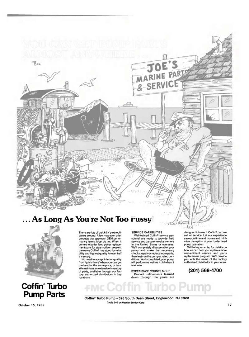 Maritime Reporter Magazine, page 15,  Oct 15, 1985 United States
